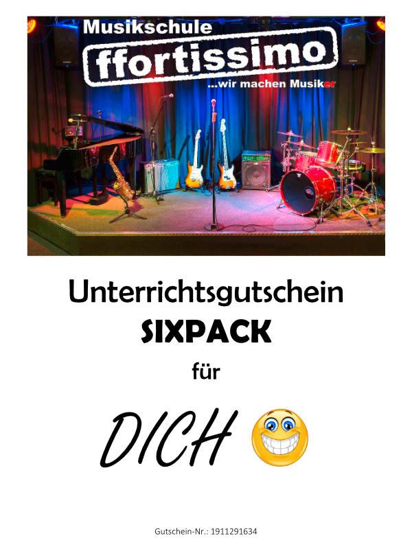 Gutschein für Musikunterricht - ffortissimo Musikschule